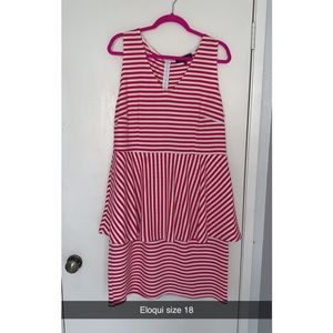 Pink dress with stripes